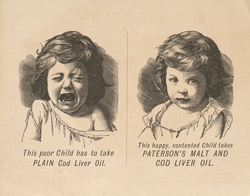 Advert for Paterson's Malt & Cod Liver Oil, reverse side